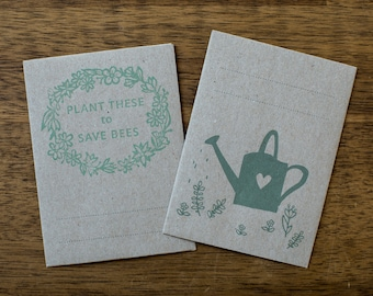 Small sachets of seeds in the set of 2 envelope of all my darling sister