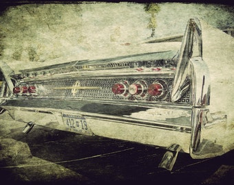 Automotive Decor, Classic Car Art, Man Cave, Garage Decor, Gift for Him, Large Wall Art, Chrome