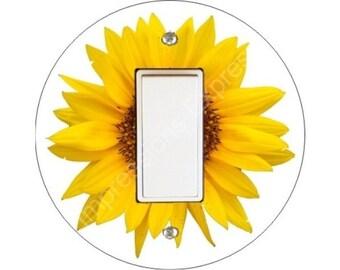 Sunflower Flower Decora Rocker Switch Plate Cover