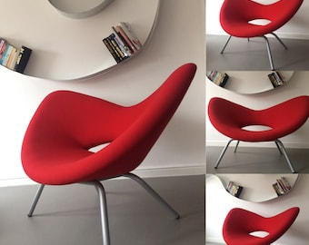 Retro Vintage Funky Design Modern Heart Red Chair Armchair Chaise Longue