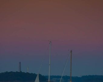 Evening on Casco Bay, Portland Maine, Fine Art Photography, Maine Art, Portland Art