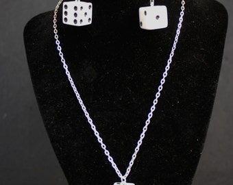 Ladies Las Vegas style Dice Jewelry , earrings and necklaces