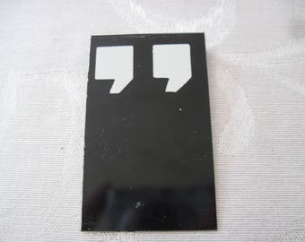 Vintage Sign Board Quotation Mark 2 1/2 Inches By 1 1/2 Inches