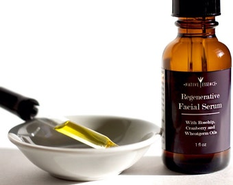 Facial Oil - Regenerative - Anti Aging Serum - Face Oil - Natural Facial Moisturizer - All Natural Skin Care - Bath and Beauty - Rosehip Oil