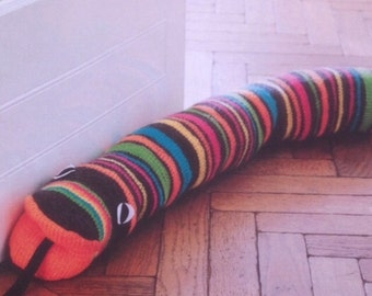 Knitted Draught Excluder Kniting Pattern