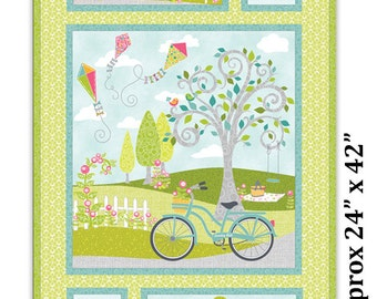 Sunday Ride Panel by Cherry Guidry of Cherry Blossoms Quilting Studio from Benartex Contempo