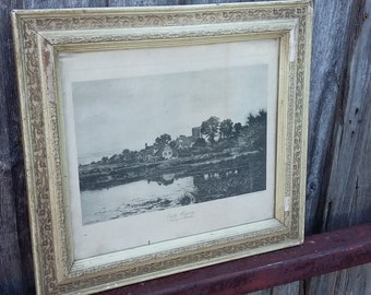 Vintage Print 'Early Morning Goring on Thames'.