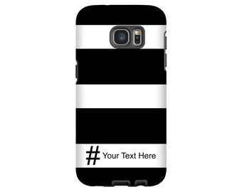 Hashtag phone case, stripes Galaxy S9/S9 Plus case, Note 8 case, Galaxy S8 case, Galaxy S7 case, Galaxy S8 Plus case, Galaxy S6 case