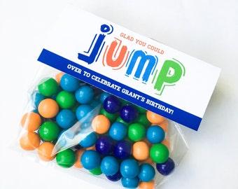 Jump Collection. Favor Tag. PERSONALIZED. DiY Printable Design. Pinkadot Shop