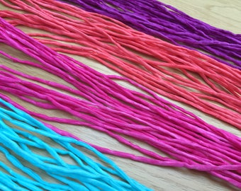 "Jewellery Making Hand Sewn 2mm Silk String ~ Choose Your Colour ~ 40"" in length ~ 1 string"