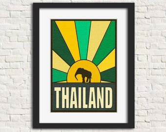 Thailand: The Places You Go - Wall Art, Instant Download, Printable Art, Modern Art, Wall Decor