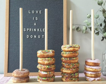 Donut stand, wedding favors, donut bar, cake table
