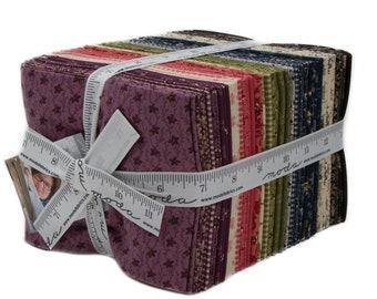 Moda 38 Fat Quarter Evelyns Homestead Pink Purple Green Civil War Fabric Bundle