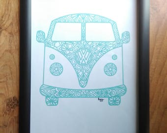 Hippie Bus Framed Print