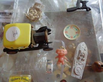 assorted vintage miniatures