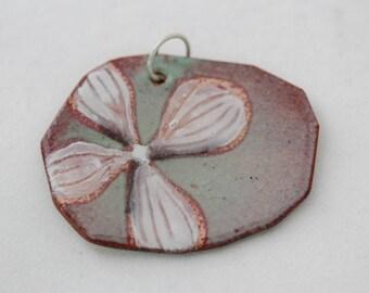 Hydrangea Flower Enamel Pendant