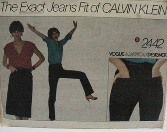 Vogue 2442 Calvin Klein jeans 8 free shipping US jeans skirt