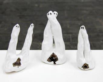 Joy #1, #2, #3 - hand made ceramic sculptures