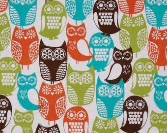Michael Miller Swedish Owls Brown - CX5439  - 100% Cotton - FBTY - Kindercarry - Kinderpack 10.50 Yard