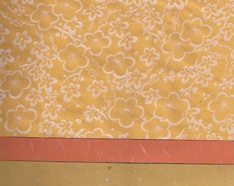 Eighteen Sheets of Orange Japanese Paper for Arts, Crafts, Scrapbooking, Book Arts