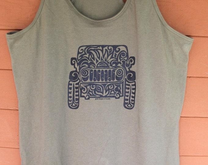Featured listing image: JEEP Tribal Tattoo LADIES Racerback Tank (S-XL)