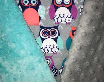 Customized, Personalized Children's/Pet Blanket - Owls