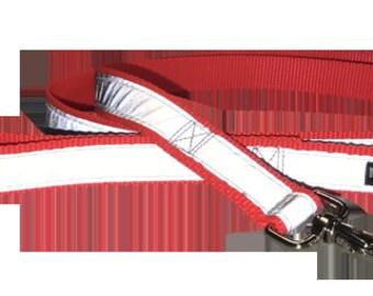 Blaze Orange Dog Leash - Reflective - Nylon - Super Strength