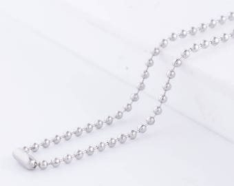 """18"""" Stainless Steel Ball Chain Necklace works great with Snap Pendants Charm Silver fc9022 CJ0747"""