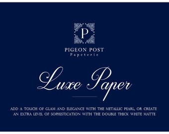 Luxe Paper Add-On for Invitation Suites
