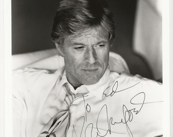 Vintage Robert Redford  Black & White 8x10 Photo Autographed Original Signed with Black Marker Hollywood Memorabilia