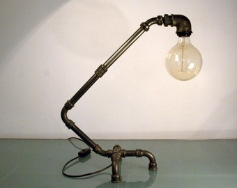 Zoomorphic table lamp Steampunk style. Handmade.