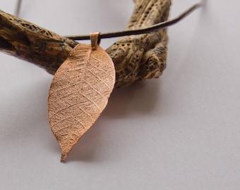 Copper leaf necklace (20)