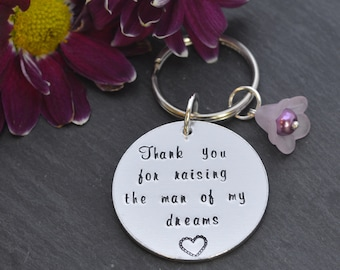 Mother in law gift, mother of the groom, gift from bride, wedding gift, thank you gift, thank you for raising the man of my dreams, wedding