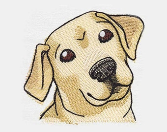 Yellow Lab Puppy Tea Towel | Embroidered Kitchen Towel | Embroidered Towel | Personalized Kitchen Towel | Embroidered Tea Towel | Dog Lovers