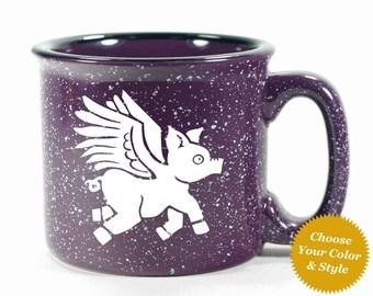 Flying Pig Mug - Choose Your Cup Color
