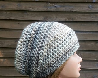 ladies slouch hat womens slouch hat crochet slouch hat sand dune tan beige youth or adult 5917