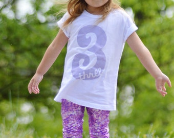 Third Birthday Shirt 3 Three 3rd + YOU CHOOSE the COLOR! +  Hand Painted + Hipster Vintage + 2 two 4 four 3 Three Third 5 6 7 8 9 10 shirt