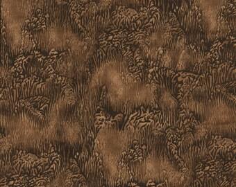 Texture Quilt Fabric - Tonal Brown Texture Print - Benartex - OOP - BTHY