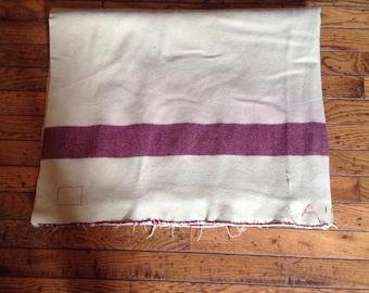 """Vintage Wool Military Blanket 48"""" x 76"""""""