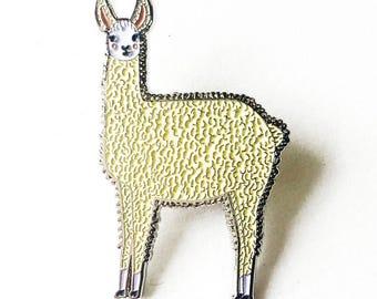 Llama Enamel Pin, Llama Jewelry, Llama Brooch, Alpaca Brooch, Alpaca Jewelry, Alpaca Pin
