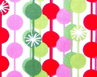 Christmas Mod String Starburst Ornaments Cotton Fabric REMNANT