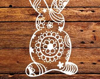 Hand Drawn Mandala Bunny