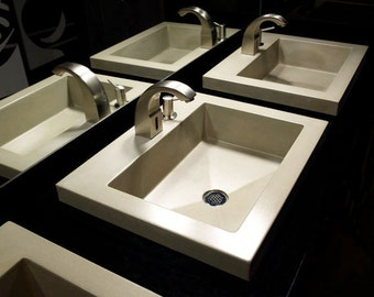 Gold on Gold Concrete Sinks