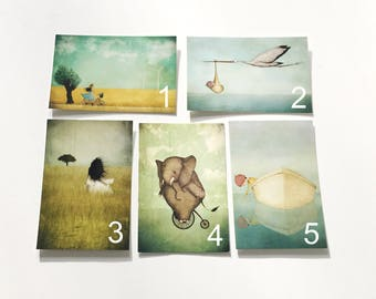 Set of 5 cards - any of your choice