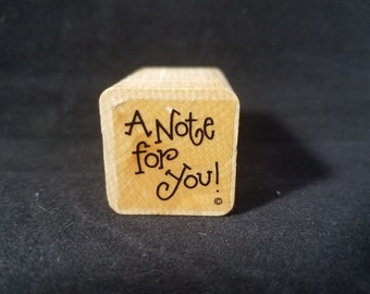 A Note For You Used Rubber stamp