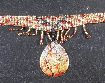 Chocker Necklace - Autumn is here.