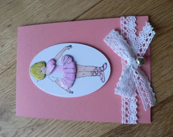 pretty dancer and lace card