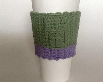 Hulk cup cozy or sleeve