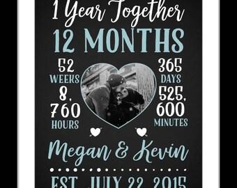 1 Boyfriend anniversary gift, boyfriend one year anniversary, personalized, boyfriend gift ideas, cute boyfriend gifts, boyfriend girlfriend
