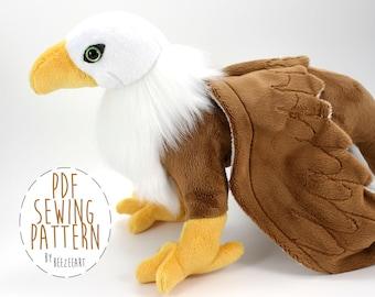 Greif-Schnittmuster, Griffin Tier Plüsch Stofftier PDF-Muster